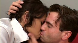 Slutty Veronica Lynn seduces a man and wants to try position 69 image