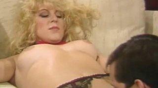 Trashy Vintage Blonde MILF Sex image