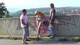 Scenic view MMF threesome image