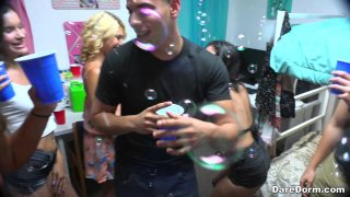 College party involves deep cock_sucking and hard pussy pounding image
