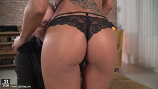 French_hottie_Cassie_Del_Isla_takes_a_hard_big_dick_in_tight_anal_hole image