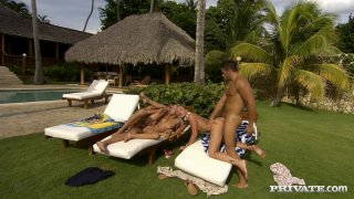 Image: Outdoor foursome_anal fuck with Jennifer Love and Kathy Campbel