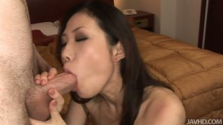 Image: Sexy Japanese milf fucking hardcore and getting her a mouthful