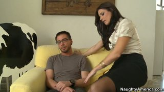 Nice blowjob_and handjob performed by lustful India Summer image