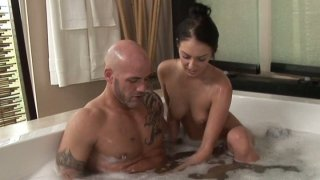 Image: Tender brunette diva Stephanie Cane sexy water procedures