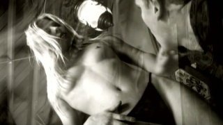 Blonde bitch Dominica Leoni poses on a cam and gives a head image