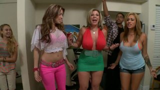 Image: Beer pong in a dirty way with Courtney Cummz, Sara Jay and Jamie Valentine