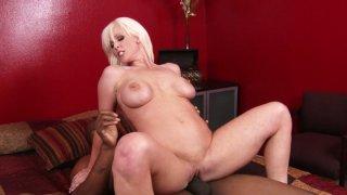 Stunning blonde milf Kaylee Brookshire rides black cock image