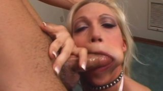 Busty blondie Nikki Hunter is mad_about sucking a cock image