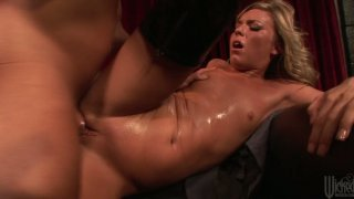 Slutty blonde Ally Kay rides dick to make it cum on her face image