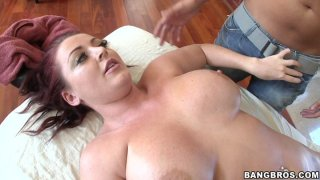 Image: Redhead sex demon Sophie Dee blows and fucks doggystyle