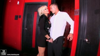Rhylee Richards jerks dick and swallows it image