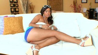 Beautiful brunette MILF Isis Love gives titjob and blowjob image