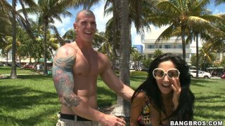 Walk on the beach with buxom and_glamorous woman Ava Addams image