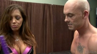 Image: Emotional and horn-mad Francesca Le gets banged doggy on the_leather couch