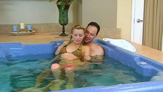 Image: Hot water makes Lexi Belle horny and she wanna get fucked