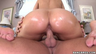 Busy brown haired MILF Syren De Mer gets her pussy banged in the_bedroom image