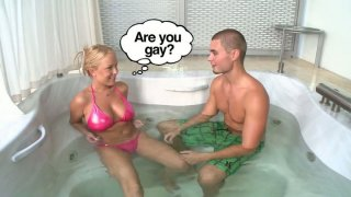 Kinky Jessica Moore seduces a man_in jacuzzi for winning a tool image