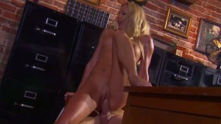 Elite prostitute Cassie Young gets fucked on the table image