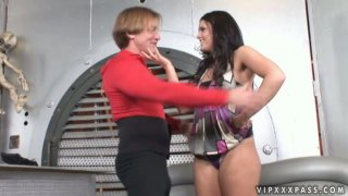 Image: Extremely wondrous Mackenzee Pierce sucks a cock in the space ship