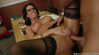 Image: College teacher Tabitha Stevens fucks her student in a lecture room