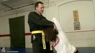 Two martial art trainers make Norah Swan_blow their dicks image