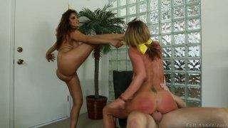Image: Assholes of Francesca Le and Sheena Shaw get boned by Mark Wood