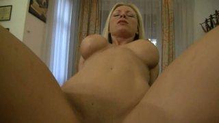 Image: Busty blonde slut Helena White gives fellatio_and rides cock on POV vid