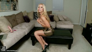 Hell seductive Hungarian slut Sandy stripteases showing off her sexy body image