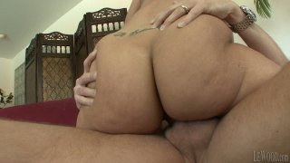 Sexy and voluptuous porn babe Kelly Divine pleases Mark Wood's cock image