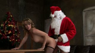 Slutty Kitty Cat has a special gift from Santa - he fucks her hard image