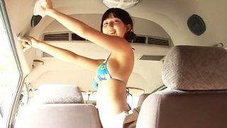 Japanese babe Yui Minami_perform a_wet car wash image