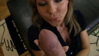 Watch blonde milf takes a double dicking Xxx movie - Horny blonde milf valentina blue blows dick and then bends over image
