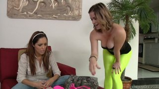 Curvy Sierra Sanders submits to Francesca Le and Mark Wood image