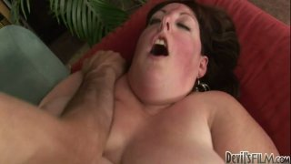 Super fat ugly whore Mindee Mounds bends over for anal penetration image