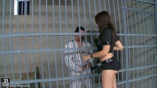 Chubby police officer with big ass Eloa_Lombard punishes her prisoner image