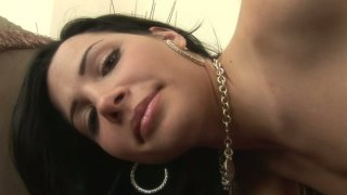Majestic brunette babe Rebecca Linares taks cock from behind image