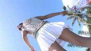 Tempting sporty babe Hana Haruna poses on cam wearing seductive swimsuit image