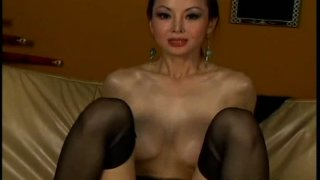 Hilarious Korean whore rides a cock as if it's her last day image