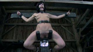 Elise Graves gets punished in crazy bdsm video image