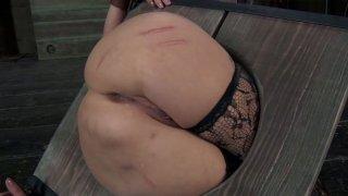 Hardcore BDSM game of skanky blonde bitch Rain DeGrey image