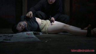 Buxom snow white brunette Sybil Hawthorne gets punished extra_hard image