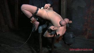 Gonzo slut Ashley Graham is tortured by a powerful sex machine and finally satisfied image
