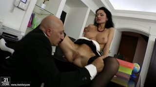 Russian porn actress Regina Prensley is filming in a hot sex scene produced by 21 Sextury image