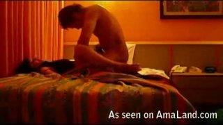 Brutal missionary sex scene on hot homemade video image