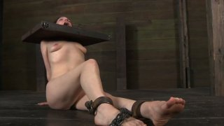 Utmost BDSM game of disgraceful redhead bitch Maggie Mead image