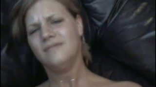 Naughty blonde girlfriend gets her asshole drilled deep image