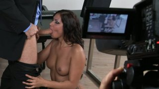 Voracious office slut Cipriana provides full service for_her boss image
