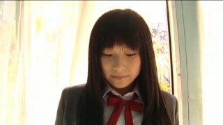 Sweet college girl Ayane Chika poses_on cam wearing uniform image