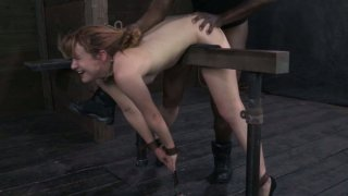 Village_girl_Claire_Robbins_experiences_BDSM_threesome image